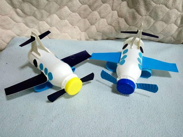 亲子手工diy——酸奶瓶小飞机