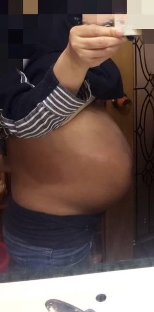 看看我的大孕肚吧!